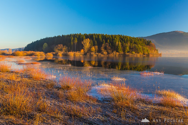 Sunrise at Lake Cerknica