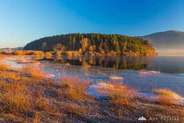 Sunrise at Lake Cerknica