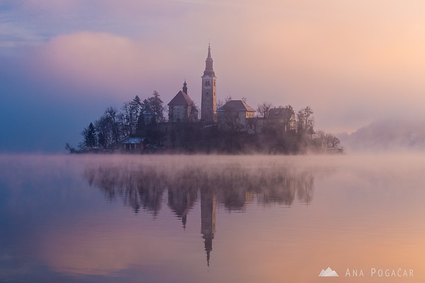 Sunrise at Lake Bled
