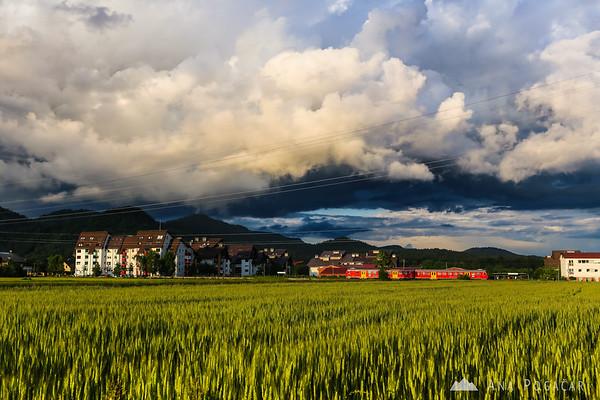 Sunset around Kamnik