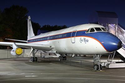 N880EP Convair 880 OKC Partnership 'Lisa Marie'. On display at Graceland Mansion, Memphis 29/4/13.