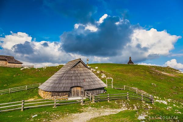 The chapel on Velika planina