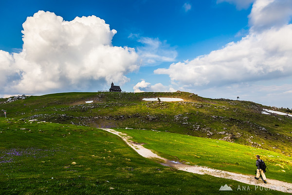 The chapel on Velika planina