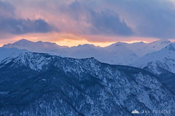 Mt. Vogel from the Zajamniki village