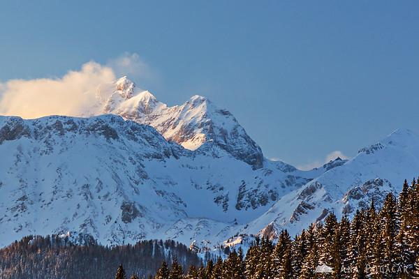 Mt. Triglav from the Zajamniki village