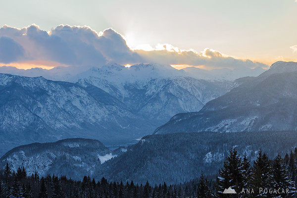 View towards Bohinj from the Zajamniki village