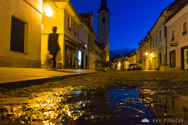 Kamnik during blue hour