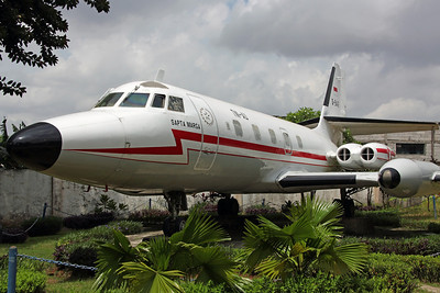 A-9446 Jetstar 6 Indonesian AF 'Sapta Marga'. On display at the Garuda Training Center, Jakarta.