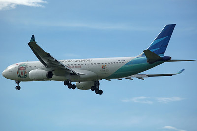 PK-GPA A330-300 Garuda. With large LFC badge and 'You'll never walk alone' logos (used by the team for there 2013 Tour).