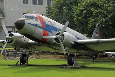 T-459 C-47A Indonesian AF. On display at the Jalan Tol Dalam Kota (Staff College).