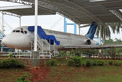 PK-GNT DC-9-32 Garuda. On display at the 'Taman Mini Indonesia Indah' park.