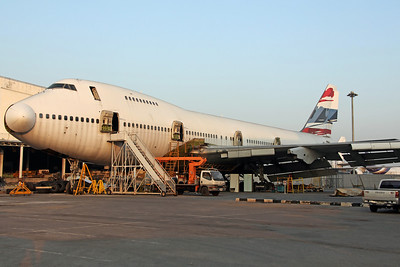 HS-UTR B747-200 ex Orient Thai (Scrapping Compound)