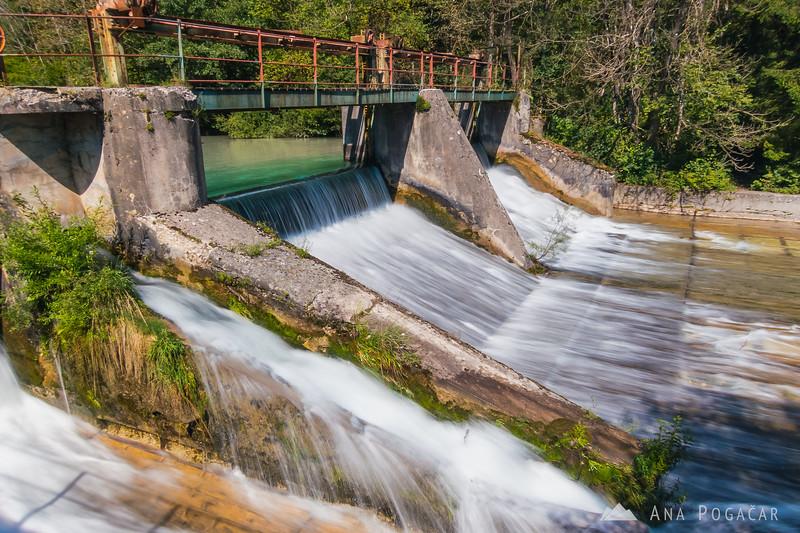 Kamniška Bistrica river dam