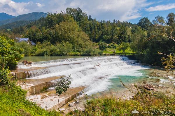 Kamniška Bistrica River at Zagorica