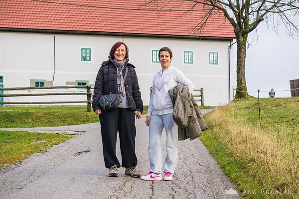 Nataša and Manca in Vojsko