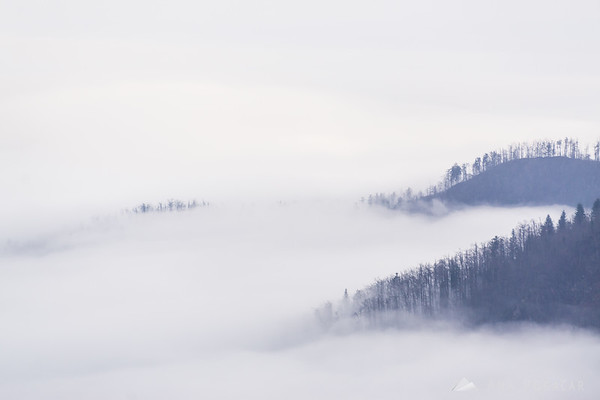 Above the fog in Vojsko