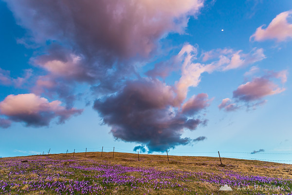 Clouds at sunset on Velika planina