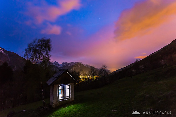 Painting with light at Srednji vrh