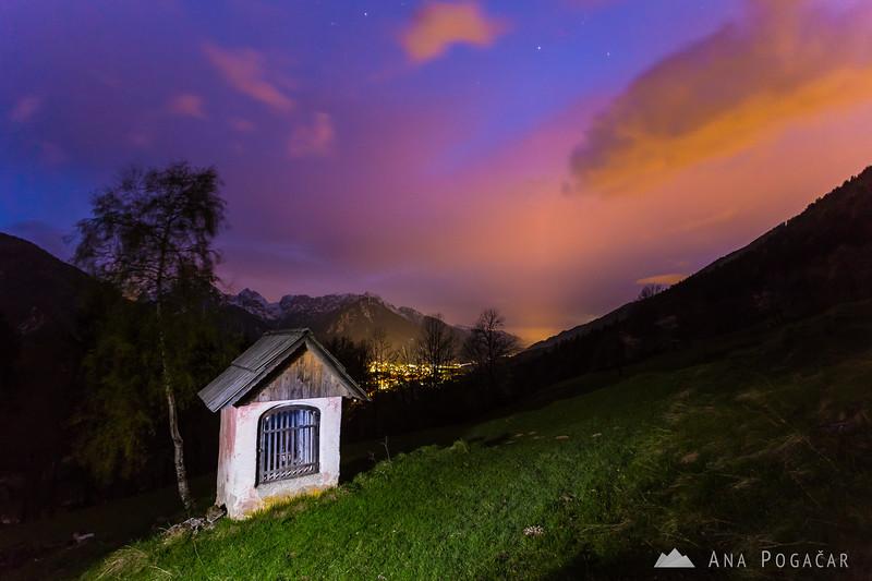 Painting with light at Srednji vrh