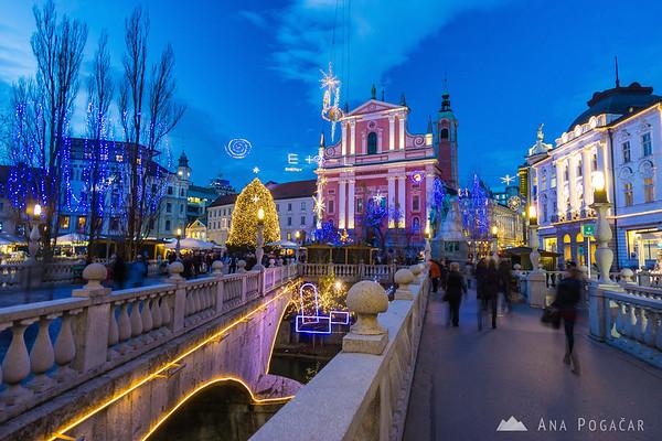 Festive Ljubljana in the Christmas season
