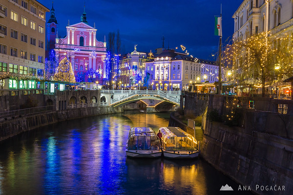 Festive Ljubljana in the Christmas season