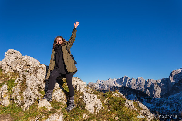 Hiking to the Slemenova špica mountain
