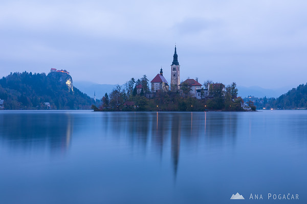 Cloudy sunrise at Lake Bled
