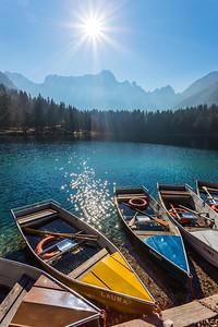 Mangart Lakes and Mt. Mangart