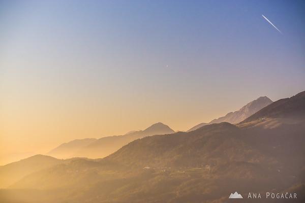 Mts. Krvavec and Storžič.