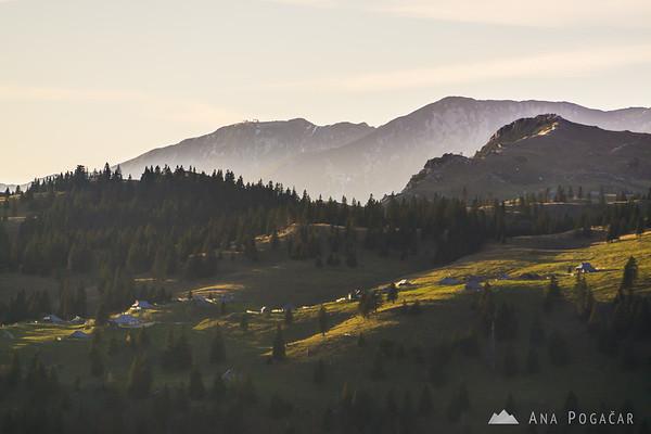 Velika planina from Kašna planina