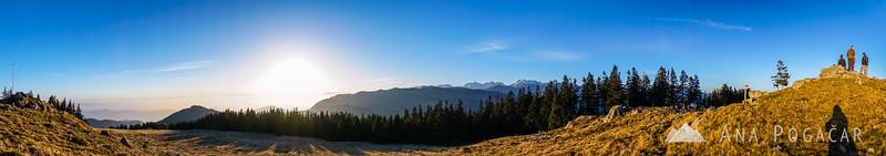 Panoramic photo from the top of Kašna planina