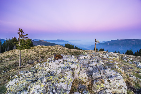Looking east from Kašna planina after sunset