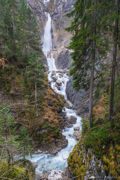 Lower Martuljek waterfall