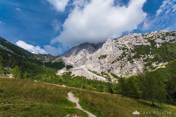 Final descent from Kamniško sedlo saddle
