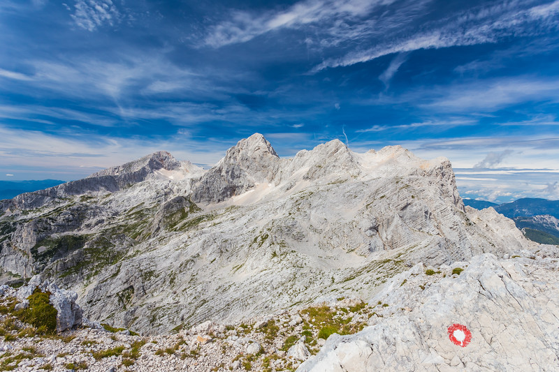 From the top of Mt. Turska gora: Mts. Grintovec, Skuta and the three Rinkas