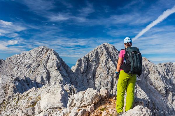 Ana at the summit of Mt. Koroška Rinka