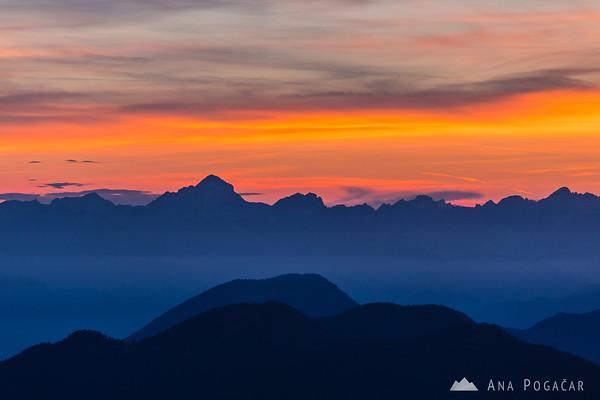 The Julian Alps with Mt. Triglav