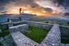 Sunset from the Smlednik castle