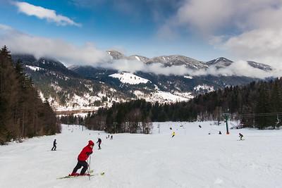 Skiing in Kranjska Gora - Feb 21, 2014