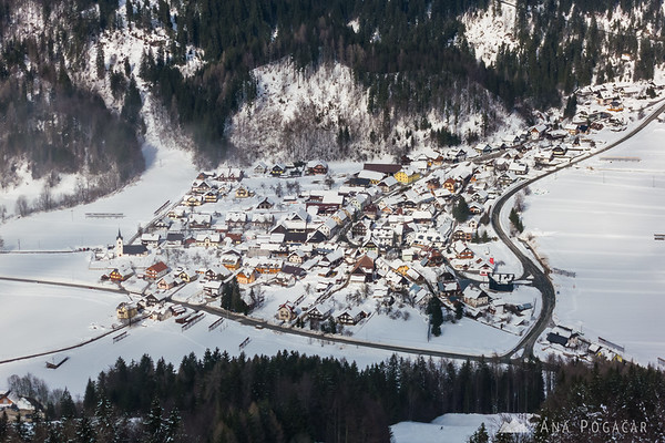 Skiing in Podkoren, Kranjska Gora - view from the top of the slopes
