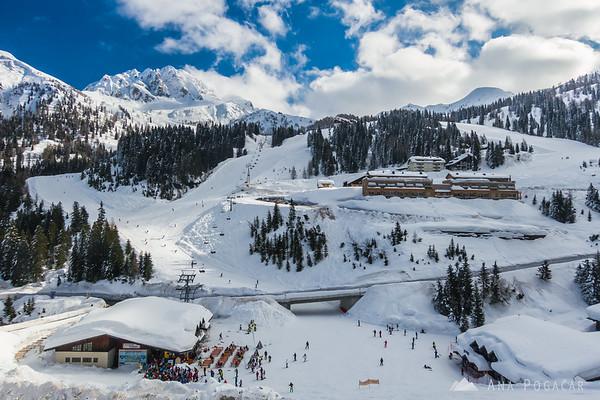 Skiing in Nassfeld, Austria