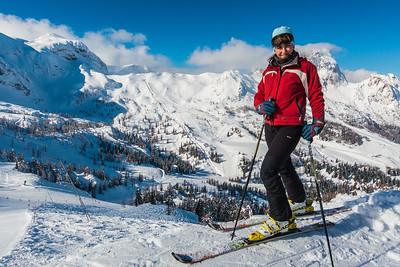 Skiing in Nassfeld, Austria - Feb 25, 2014