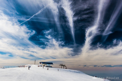Skiing on Krvavec - Mar 11, 2014