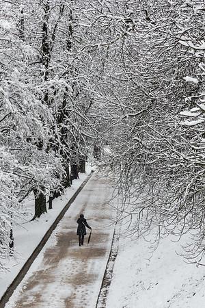 First snow at the Ljubljana Castle