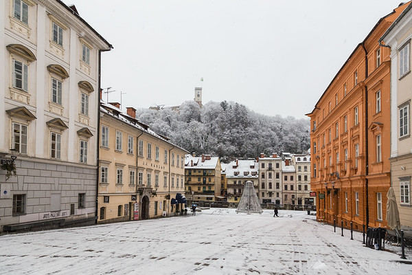 First snow in Ljubljana