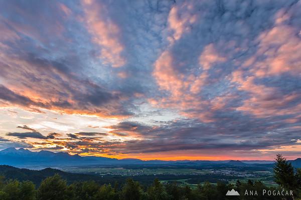 Sunrise from Križna gora