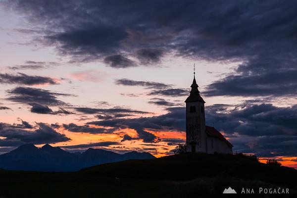 Before sunrise from Križna gora