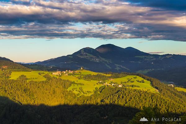 Sunrise on Križna gora