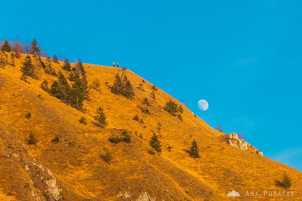 Moon and Kamniški vrh