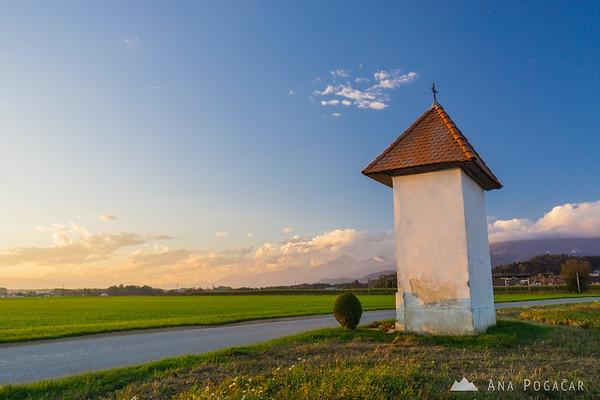 Sunset from Križ near Kamnik